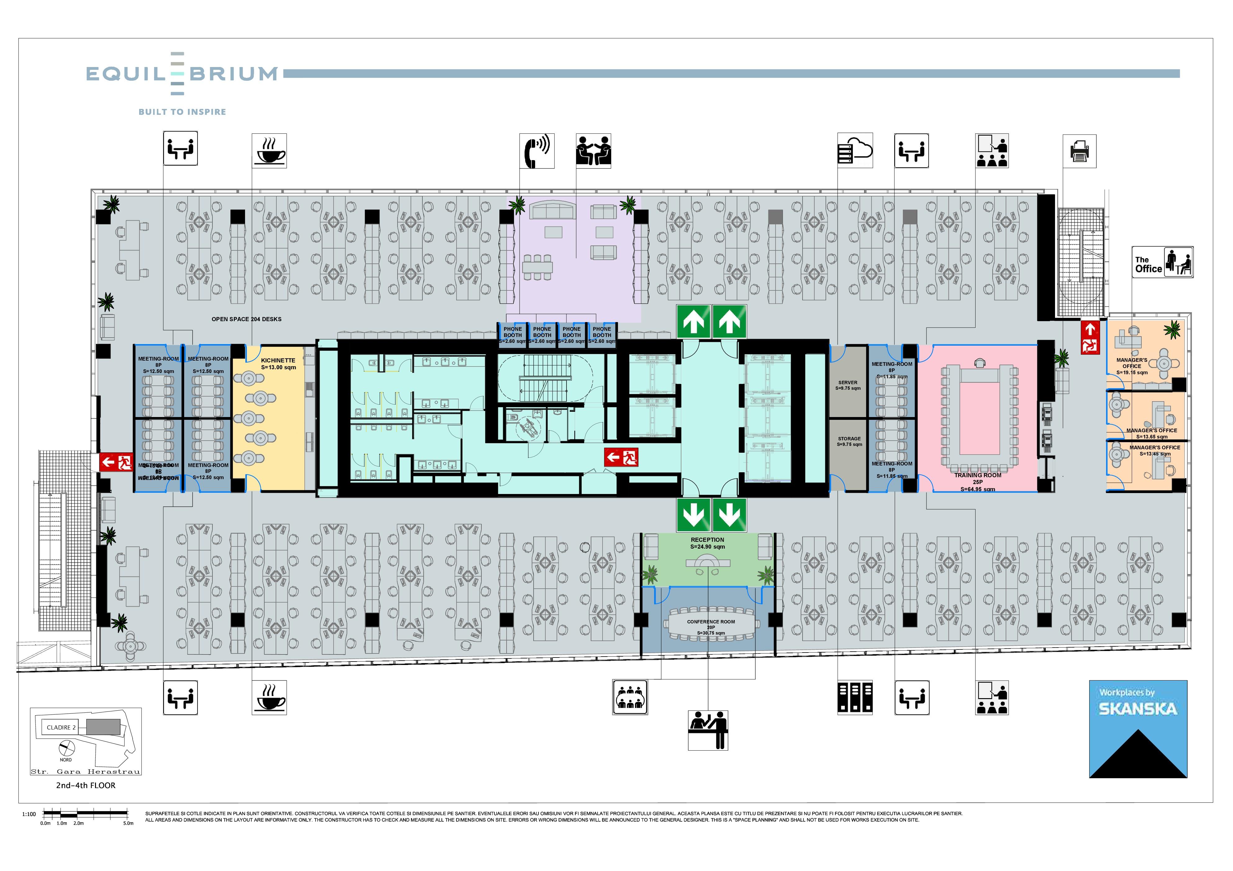 Equilibrium 1 Floor Plan, 2-4 floors
