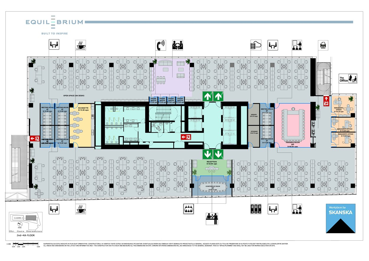 Equilibrium 1 Floor Plan, 2-4 floors