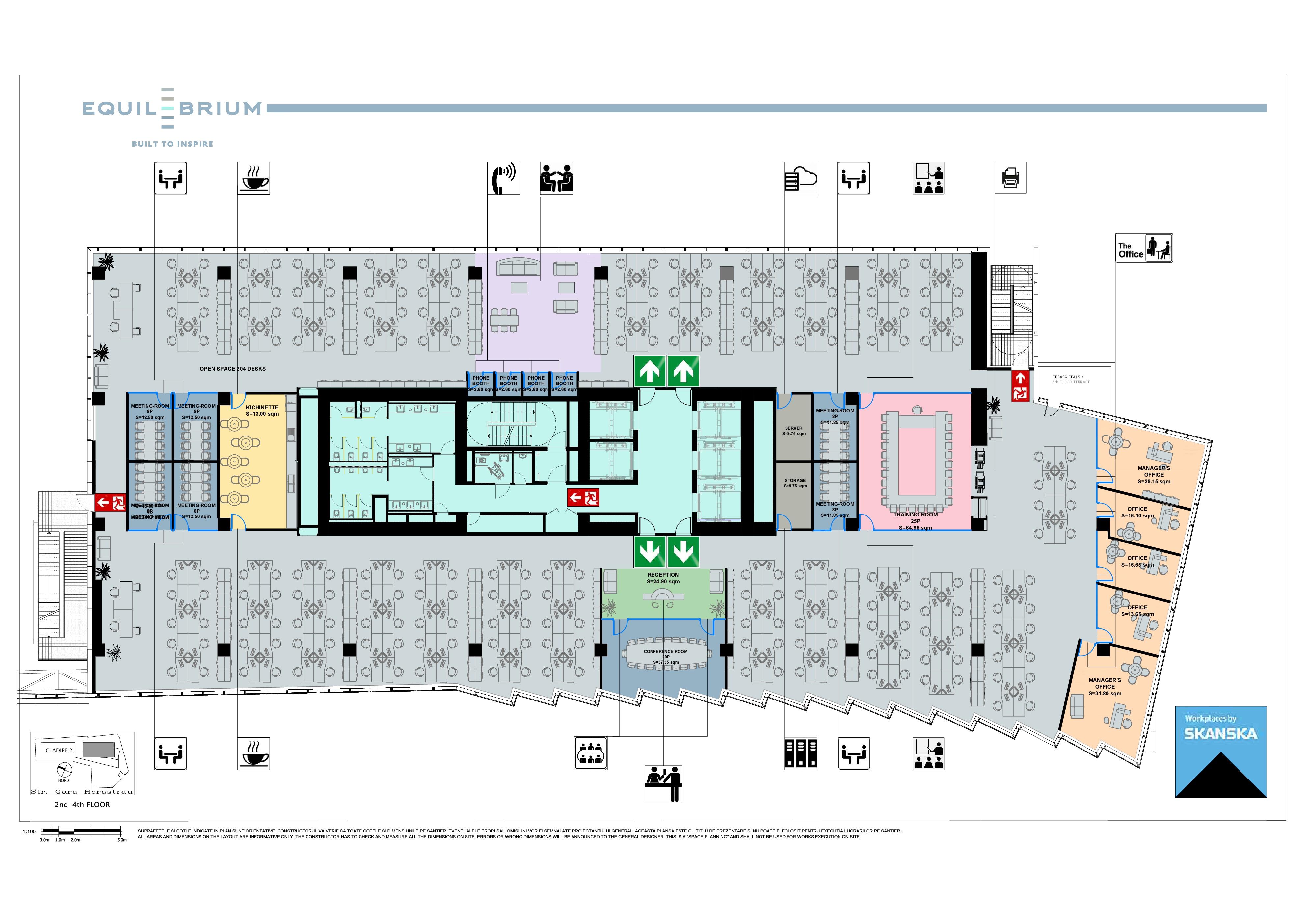 Equilibrium 1 Floor Plan, 5-11 floors