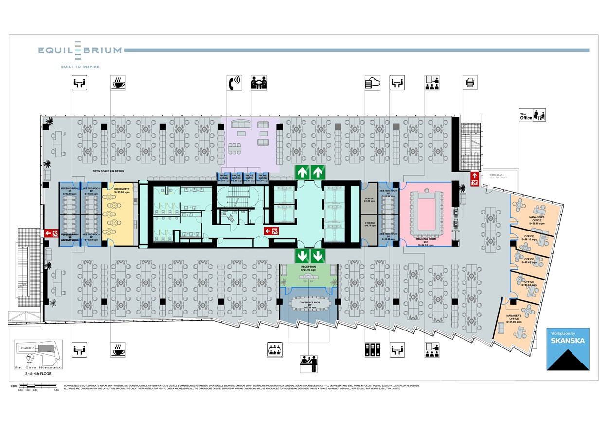 Equilibrium 1 Floor Plan, 5-11 floors