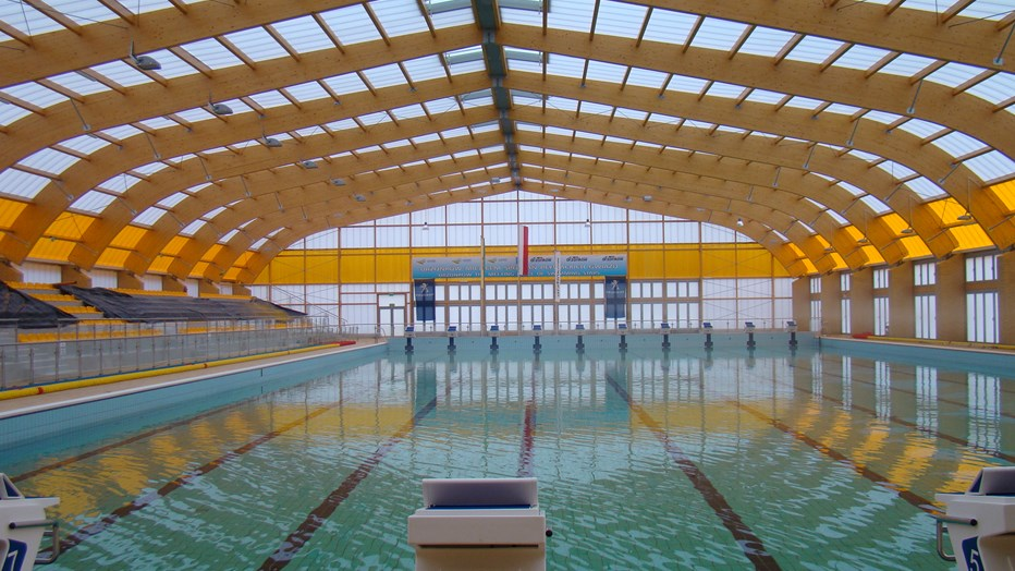 Outdoor swimming pools complex in Drzonków