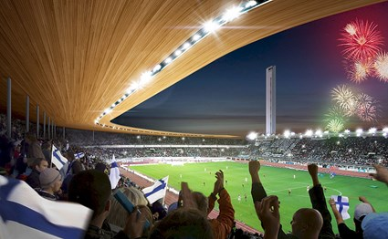 The Helsinki Olympic Stadium is being renovated into a multifunctional and versatile event arena that will serve its future users as a state of the art stage for both significant sport and memorable culture events.