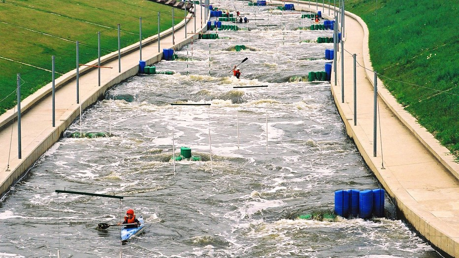 White water canoeing course in Kraków